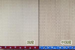 左が国産、右が中国産です。たった2年でこうも違います!