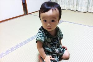 国産畳表は子供にも安心して使える素材です。