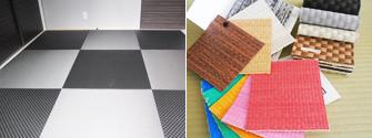 カラー樹脂素材のヘリナシ畳